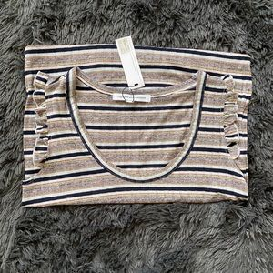NWT Cupcakes and Cashmere Striped Shirt